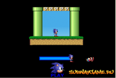 Sonic попал в мир Марио