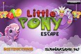Помоги сбежать маленькому пони