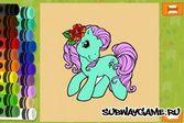 Раскрась принцессу пони