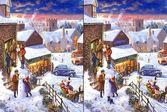 Зимняя ночь - найди отличия