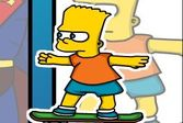 Барт Симпсон скейтбордист - научись кататься