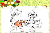 Маша и ежик. Раскраска для детей 3-6 лет.