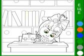Маша и Медведь делают уроки - раскраска для детей