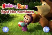 Маша и Медведь поиск чисел спрятанных на картинке