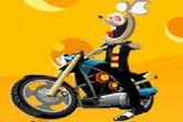 Мотицикл и чокнутые мыши - доберись к финишной черте