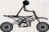 Езда на нарисованном байке