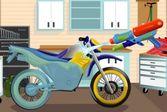 Чистый гоночный мотоцикл - моем технику вместе