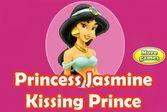 Принцесса Жасмин целует принца Аладдина