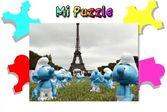 Смурфики в Париже - пазлы для детей