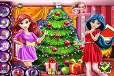 Жасмин и Ариэль наряжают ёлку к празднику