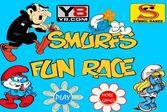 Забавная гонка Смурфиков - стань победителем заезда