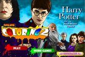 Раскрась Гарри Поттера всеми цветами радуги