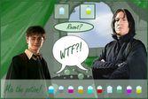 Гарри Поттер готовит зелье с профессором Снейпом