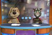 Говорящий кот Том и Пес Спайк на телепрограмме