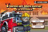 Говорящий кот Том на службе в пожарной части