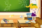 Наведение чистоты в классе и школе во время субботника