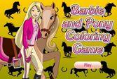Раскраска Барби: Конная прогулка для девочек
