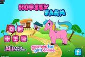 Уход за лошадкой на ферме для девочек