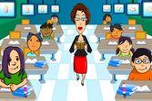 Скучная лекция учителя в новой школе