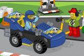 Помоги Лего Джуниору заправлять гоночные болиды