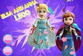 Помогите двум прекрасным принцессам лего освободится от грязи