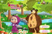 Маша и Медведь - лесная прогулка