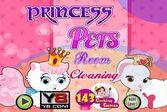 Наводим порядок в комнате с королевскими питомцами принцесс