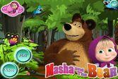 Помогайте Маше и медведю искать предметы