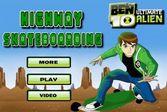 Гонка Бена 10 на скейте 3D – держи равновесие