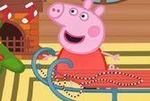 Помогайте маленькой розовой свинке отремонтировать санки
