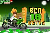 Бен 10 на мотоцикле – бешеная скорость