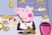 Собирайте вместе со свинкой Пепой мусор