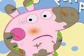 Заняться ушибами и ранами маленькой свинки Пепы