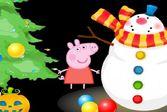 Пепа с Джорджем наряжает праздничное дерево к Новому году