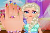 Маникюр для принцессы Эльзы
