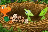 Поезд динозавров - бродилка для маленьких детей