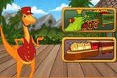 Удивительный поезд динозавров