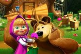 Маша и Медведь на субботнике