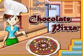Кухня Сары шоколадная пицца
