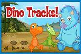 Поезд Динозавров следы на песке
