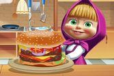 Готовим с Машей и Медведем - рецепт бургера