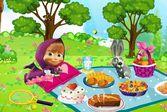Маша и Медведь пикник
