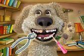 Пес Бен лечит зубы у стоматолога