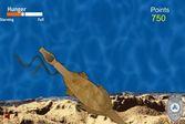 Динозавр на рыбалке спасается от голода