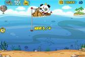 Панда цепляет рыбу на крючок