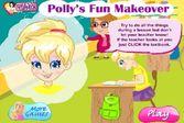 Помогите Полли Покет быстро нанести макияж