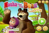 Маша и медведь – раскраски