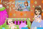 София прекрасная ухаживает за малышом