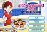 Кухня Сары эклеры с мороженным