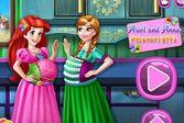 Беременная Ариэль и Анна